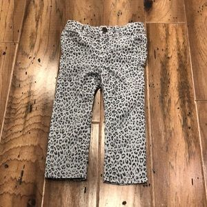 Gap - Toddler Skinny Gray Cheetah Print Jean